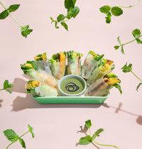 Rouleaux de printemps végétariens à la menthe