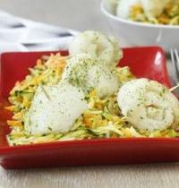 Rouleaux de sole et fondue de légumes et persillade