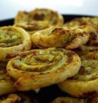 Pinwheels with pesto
