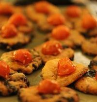 Parmesan and olive cookies