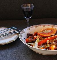 Salade au boulgour et légumes rôtis