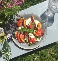 Salade d'été tomates nectarines