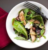 Salade d'oeufs et filets de caille