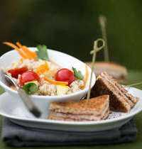 Salade d'orge et ses toasts