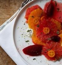 Salade d'agrumes & sorbet de betterave rouge