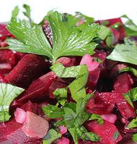 Salade de betteraves, anchois et persil