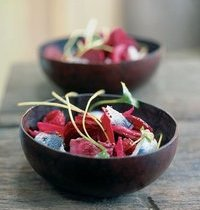Beet and rollmop salad