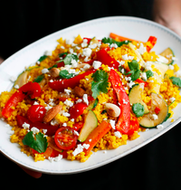 Vegetable tabbouleh with saffron