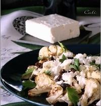 Salade de Chou-Fleur Grillé, Feta & Olives Noires