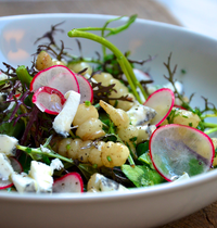 Salade de crosnes et chèvre