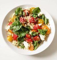 Salade de Fraises, Quinoa, Boulgour & Chèvre