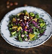 Salade de kale et chou rouge