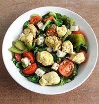 Salade de Mâche, Poulet Curry & Kiwi