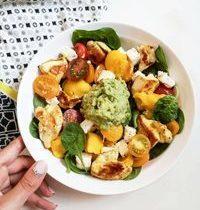 Salade de Mangue, Poulet Curry & Guacamole