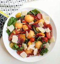 Salade de Melon, Viande Des Grisons & Copeaux de Parmesan