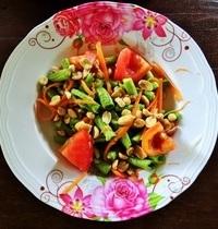 Salade de papaye verte épicée, Thailande