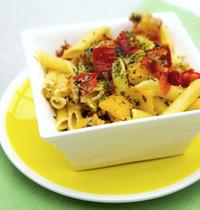 Salade de pâtes et poivrons grillés