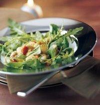 Bay scallop and ginger salad