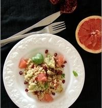 Salade de Quinoa aux Fruits (Tomate, Avocat, Grenade & Pomelo)