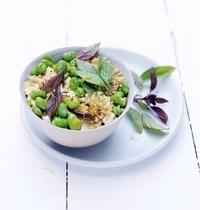 Salade de quinoa feta et fèves