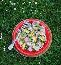 Salade de Riz Agra à la pêche, roquette et betterave Chioggia