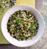 Salade de riz et pois chiches aux herbes