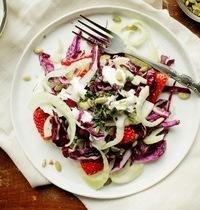 Salade Estivale Chou Rouge Fraise Fenouil