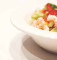 Salade sucrée salée de la mer