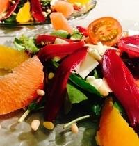 Salade magret orange pamplemousse