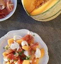 Salade Melon jambon mozza