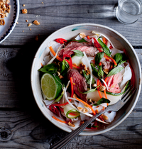 Thai beef salad with rice noodles