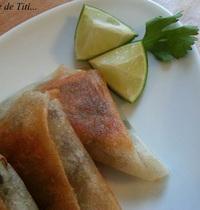Spiced beef samosas