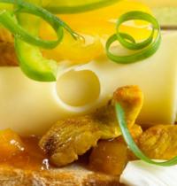 Sandwich au fromage et poulet curry
