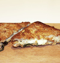 Carrozza in mozzarella (golden-crusted fried)