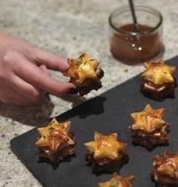 Sandwichs étoilés, foie gras & chutney de mangue