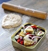 Sardines en boîte  en croûte de parmesan