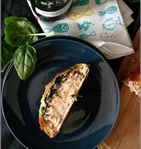 Saumon en Croûte, aux Epinards & Champignons