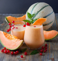 Smoothie gingembre-melon du Haut-Poitou