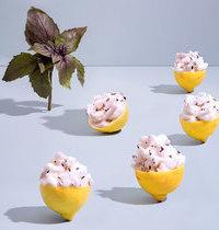 Sorbet au basilic pourpre et citron