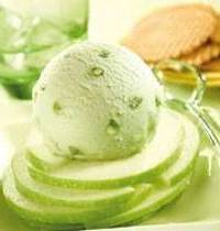 Basil, lime and Granny Smith sorbet