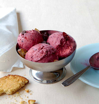 Easy Strawberry and Cherry Sorbet
