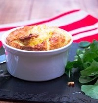 Parsnip and Roquefort cheese soufflé