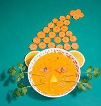 Soupe aux carottes, à l'orange et à la coriandre