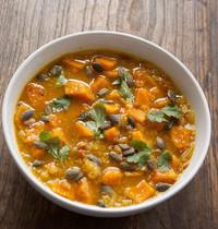 Soupe Dal Pondichéry, potiron et graines de courge