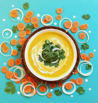 Curried carrot soup with coconut milk