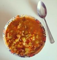 Soupe de dinde aux légumes d'hiver