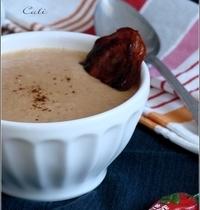 Soupe de Haricots Blancs, Chorizo & Piment d'Espelette (+Tuiles de Chorizo)