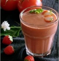 Soupe Froide aux Tomates & aux Fraises