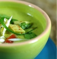 Soupe froide  courgette-avocat