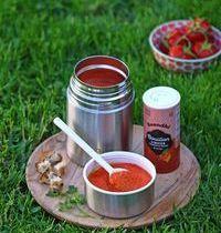 Soupe froide de tomate et poivron ou Bouillon  l'Indien